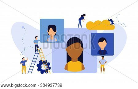 Job Career Business Success Agency Audience Vector Illustration. Customer Looking Office Company Cho