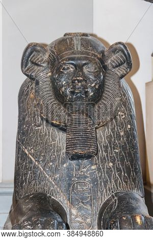 Cairo, Egypt - December 8, 2018: Sphinx In Museum Of Egyptian Antiquities, Known Commonly As The Egy