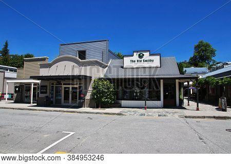 Arrowtown / New Zealand - 25 Dec 2018: Arrowtown Village Is Ancient Town , New Zealand