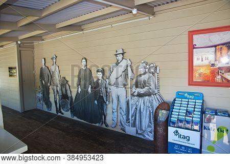 Arrowtown / New Zealand - 24 Dec 2018: Arrowtown Village Is Ancient Town , New Zealand