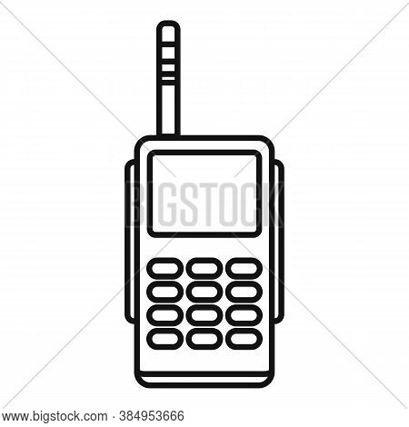 Hiking Walkie Talkie Icon. Outline Hiking Walkie Talkie Vector Icon For Web Design Isolated On White