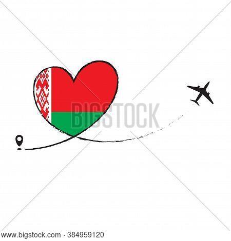 Flag Of Belarus Love Romantic Travel Plane Airplane Airplane Airplane Flight Fly Jet Airline Line Ve