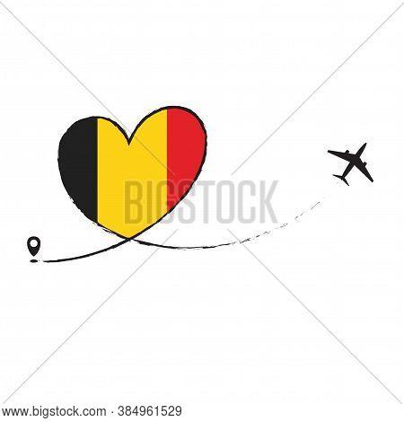 Flag Of Belgium Love Romantic Travel Plane Airplane Airplane Airplane Flight Fly Jet Airline Line Ve