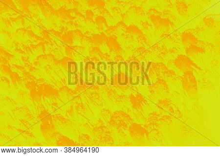 Trendy 2021 Year Green Sheen Color With Amberglow Orange Color Spots Background. Hyacinths Flowers P
