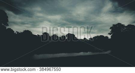 Dark Moody Photos Of The River Bela At Dallam Park, Milnthorpe, Cumbria, England