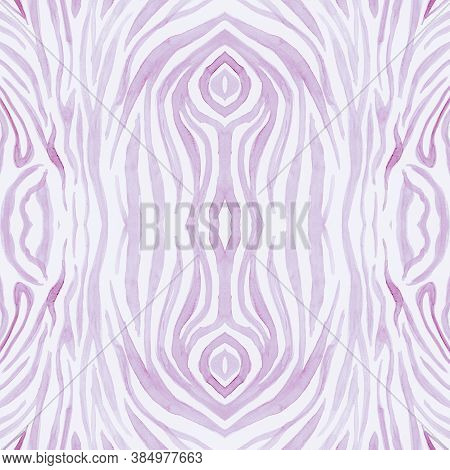 Pink Africa Print. Watercolour Animal Skin Texture. Pastel Fashion Leopard Background. Wild Stripes