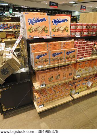 Vienna, Austria - Circa October 2018: Manner Brand Store In Vienna