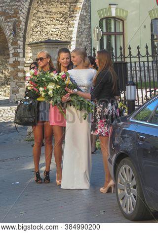 Tallinn, Estonia - Circa March 2017: Elegantly Dressed People At A Graduation Ceremony