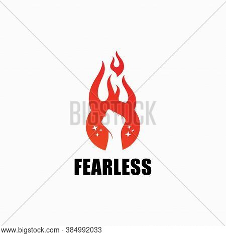 Fearless Logo Vector Power Graphic, Campfire, Isolated