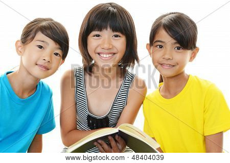 Smiling Asian girls