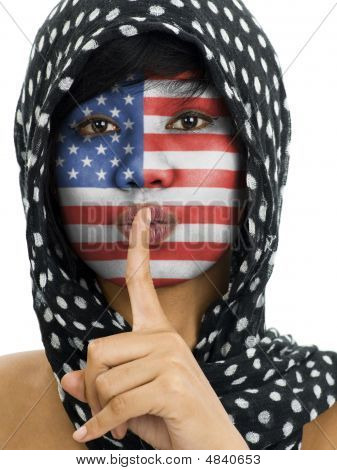 Muslim With Us Flag