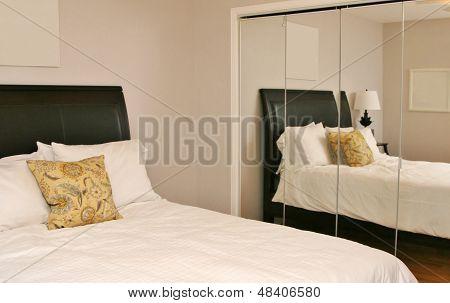 Reflection of modern bedroom