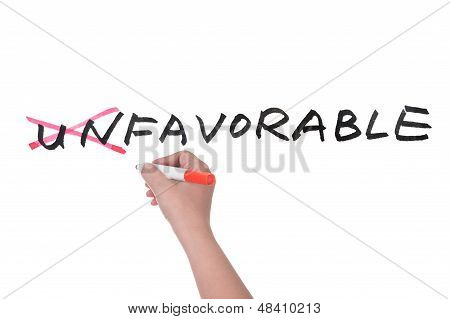 Unfavorable To Favorable Concept
