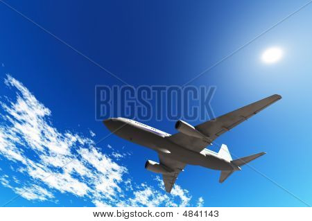 Aircraft In Blue Sky