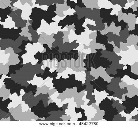 Polar Black And White Camouflage Seamless Pattern