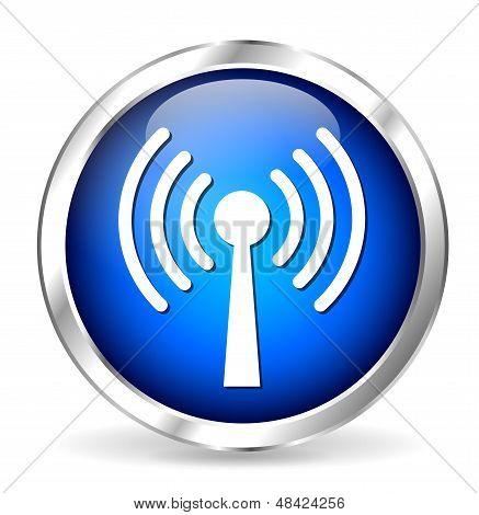 blue Antenna Icon