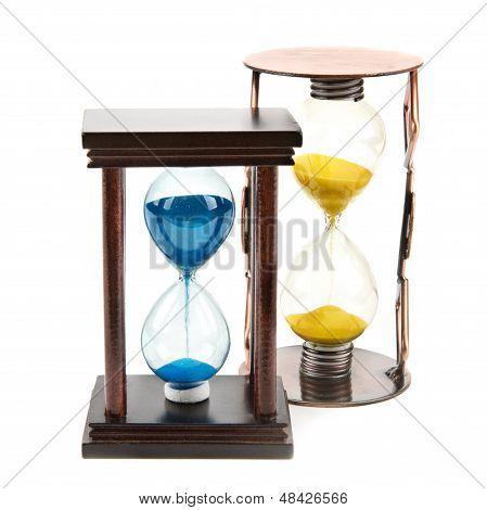 Hourglass, Sandglass, Sand Clock On White Background