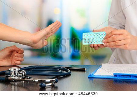 Gynecologist appoints hormone pills patient