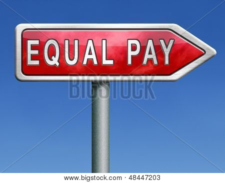 equal pay equality in rights for man and women