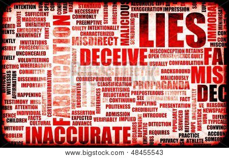 Lügen und die Verbreitung von falschen Informationen
