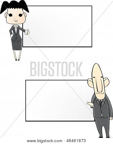 business people notepad