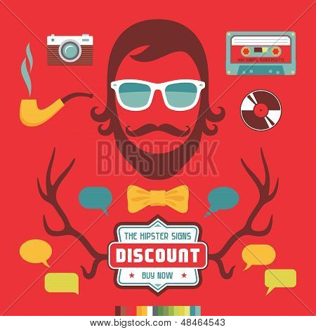 Hipster Signs Elements