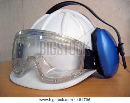 Helmet, Goggle & Ear Protector