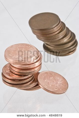 Two Stacks Of Coins