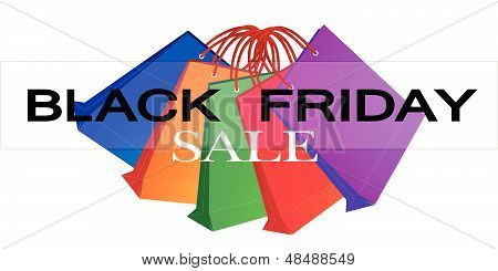 Colorful Paper Shopping Bags For Black Friday Promotion