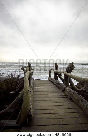 Old Bridge To Beach