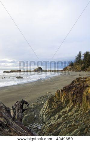 Rocky Washington Beach