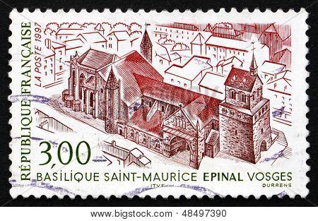 Postage Stamp France 1997 Saint Maurice Basilica, Epinal