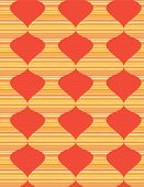 Abstract background with orange waves. Vector illustration poster