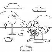 Coloring book,  the ant in the candy land poster