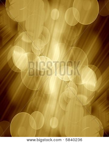 Golden Blurred Lights