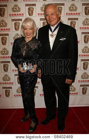 LOS ANGELES - NOVEMBER 2: Buzz Aldrin and wife Lois at the 2005 BAFTA/LA Cunard Britannia Awards at Hyatt Regency Century Plaza Hotel on November 2, 2006 in Century City, CA.