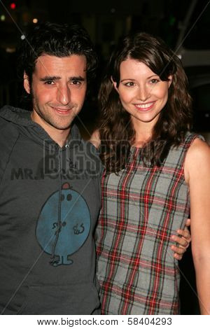 LOS ANGELES - NOVEMBER 09: David Krumholtz and Vanessa Britting at the Los Angeles Premiere of