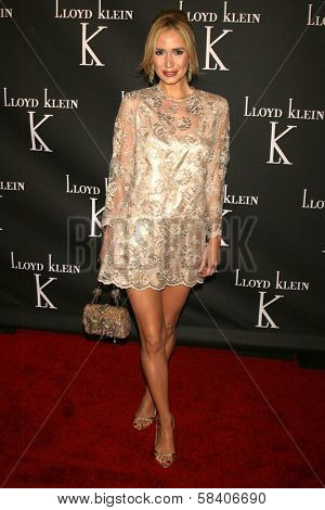 LOS ANGELES - NOVEMBER 14: Ashley Jones at the opening party for the Lloyd Klein Flagship Store at Lloyd Klein Flagship Store on November 14, 2006 in Los Angeles, CA.