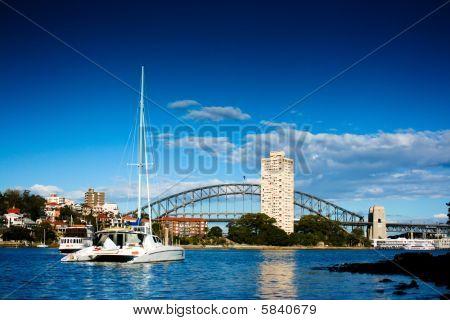 Yacht On Sydney Harbor (harbour)