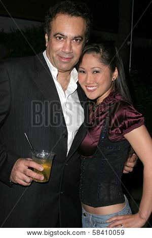 HOLLYWOOD - OCTOBER 21: Steven Shaul (Jelessy Jeans CEO) and Cathy Shim at the