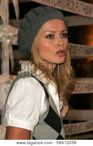 BEL AIR - OCTOBER 27: Izabella Scorupco at the H And M Celebration of the Viktor And Rolf Collection on October 27, 2006 at Private Residence, Bel Air, CA.