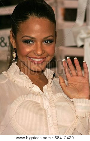 BEL AIR - OCTOBER 27: Christina Milian at the H And M Celebration of the Viktor And Rolf Collection on October 27, 2006 at Private Residence, Bel Air, CA.