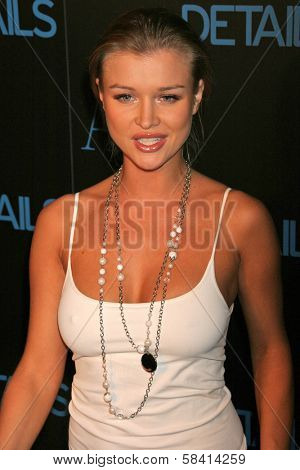 HOLLYWOOD - DECEMBER 07: Joanna Krupa at Armani Exchange and Details Magazine's