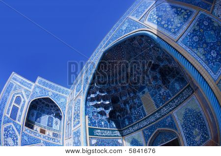 Sheikh Lotf Allah Mosque in Isfahan in Iran. poster