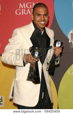 LAS VEGAS - DECEMBER 04: Chris Brown in the press room at the 2006 Billboard Music Awards, MGM Grand Hotel December 04, 2006 in Las Vegas, NV