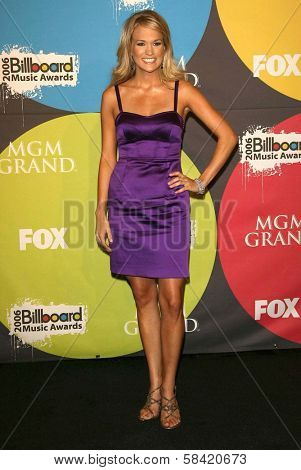 LAS VEGAS - DECEMBER 04: Carrie Underwood in the press room at the 2006 Billboard Music Awards, MGM Grand Hotel December 04, 2006 in Las Vegas, NV