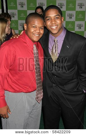 LOS ANGELES - NOVEMBER 08: Kyle Massey and Christopher Massey at the 16th Annual Environmental Media Association Awards on November 08, 2006 at Wilshire Ebell Theatre in Los Angeles, CA.