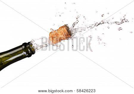 Opening a bottle of champange