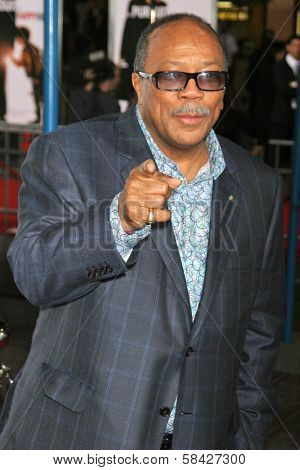 WESTWOOD, CA - DECEMBER 07: Quincy Jones at the premiere of