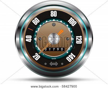 Retro style speedometer